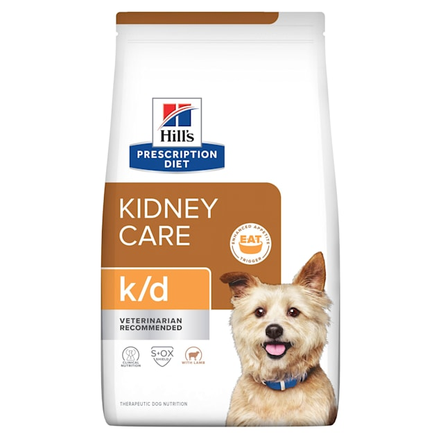 Hill's Prescription Diet k/d Kidney Care with Lamb Dry Dog Food, 17.6 lbs., Bag - Carousel image #1