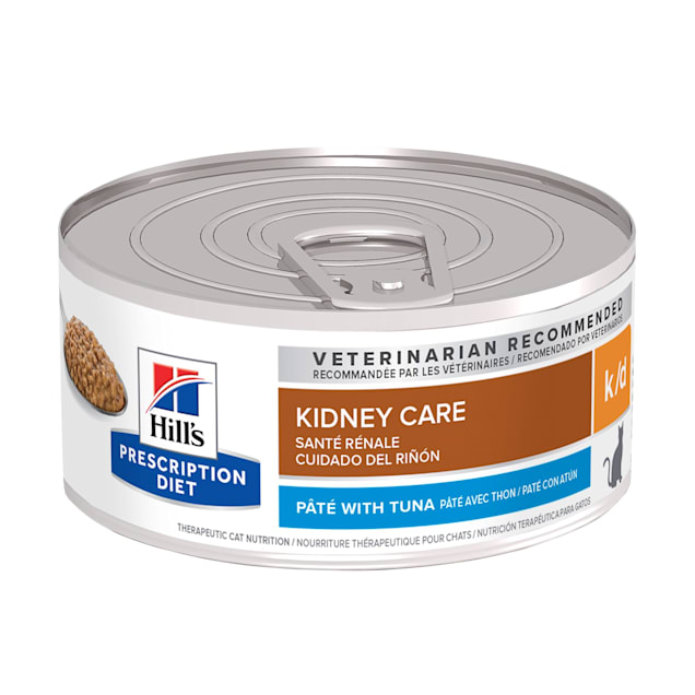 Hill's Prescription Diet k/d Kidney Care with Tuna Canned Cat Food, 5.5 oz., Case of 24 - Carousel image #1