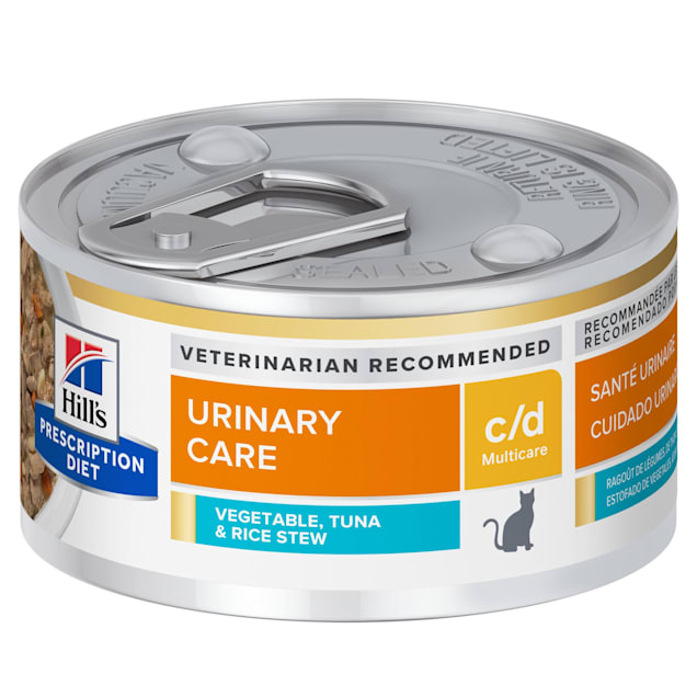 Hill's Prescription Diet c/d Multicare Urinary Care Tuna & Vegetable Stew Canned Cat Food, 2.9 oz., Case of 24 - Carousel image #1