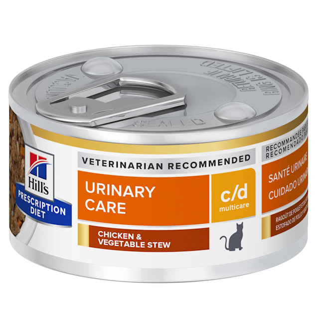 Hill's Prescription Diet c/d Multicare Urinary Care Chicken & Vegetable Stew Canned Cat Food, 2.9 oz., Case of 24 - Carousel image #1