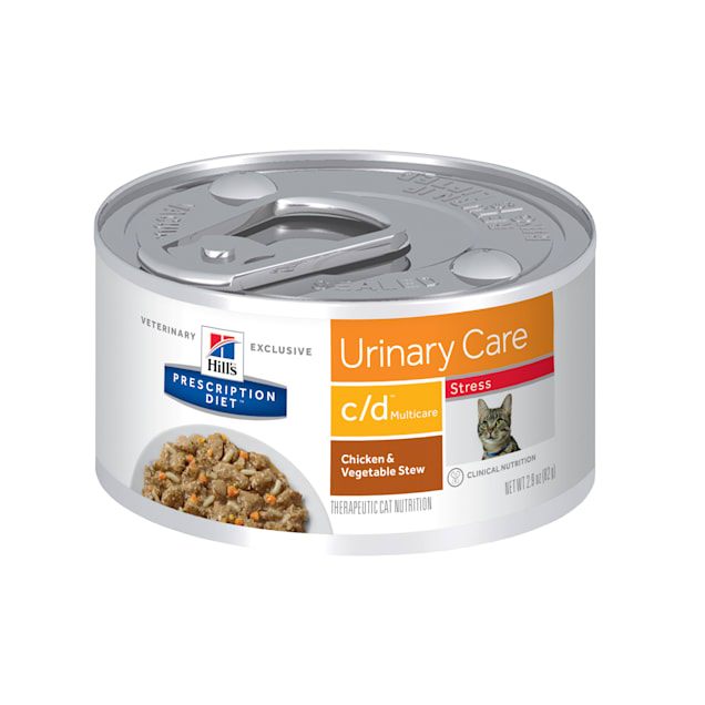 Hill's Prescription Diet c/d Multicare Stress Urinary Care Chicken & Vegetable Stew Canned Cat Food, 2.9 oz., Case of 24 - Carousel image #1