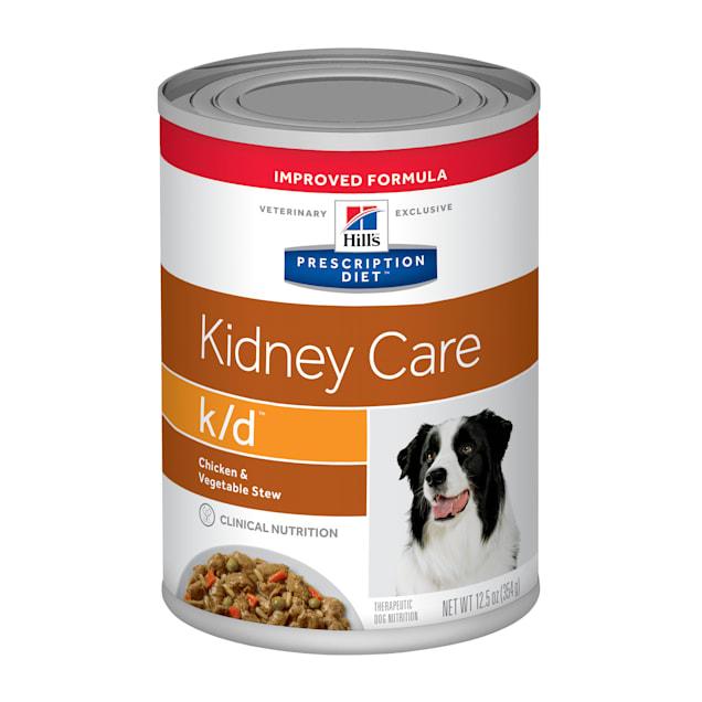 Hill's Prescription Diet k/d Kidney Care Beef & Vegetable Stew Canned Dog Food, 12.5 oz., Case of 12 - Carousel image #1