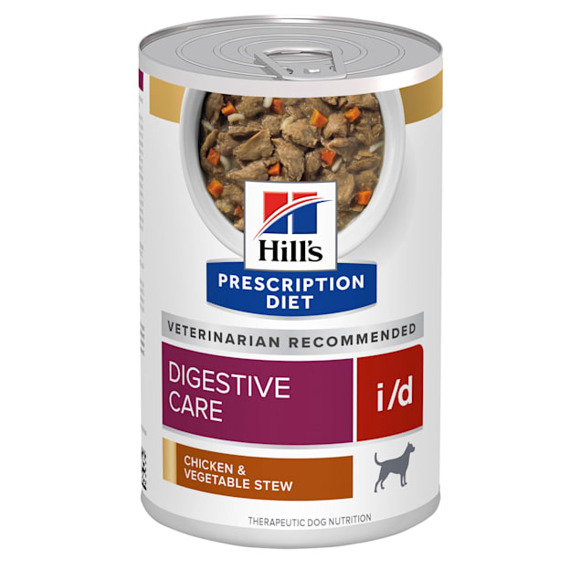 Hill's Prescription Diet i/d Digestive Care Chicken & Vegetable Stew Canned Dog Food, 12.5 oz., Case of 12 - Carousel image #1