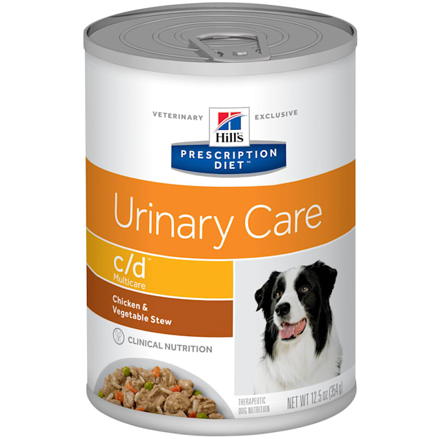 Hill's Prescription Diet c/d Multicare Urinary Care Chicken & Vegetable Stew Canned Dog Food, 12.5 oz., Case of 12 - Carousel image #1
