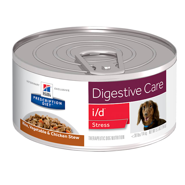 Hill's Prescription Diet i/d Stress Digestive Care Rice, Vegetable & Chicken Stew Canned Dog Food, 5.5 oz., Case of 24 - Carousel image #1