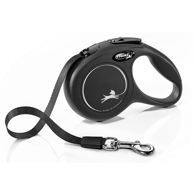 Flexi Classic Retractable Dog Leash in Black, Extra Small 10' - Carousel image #1
