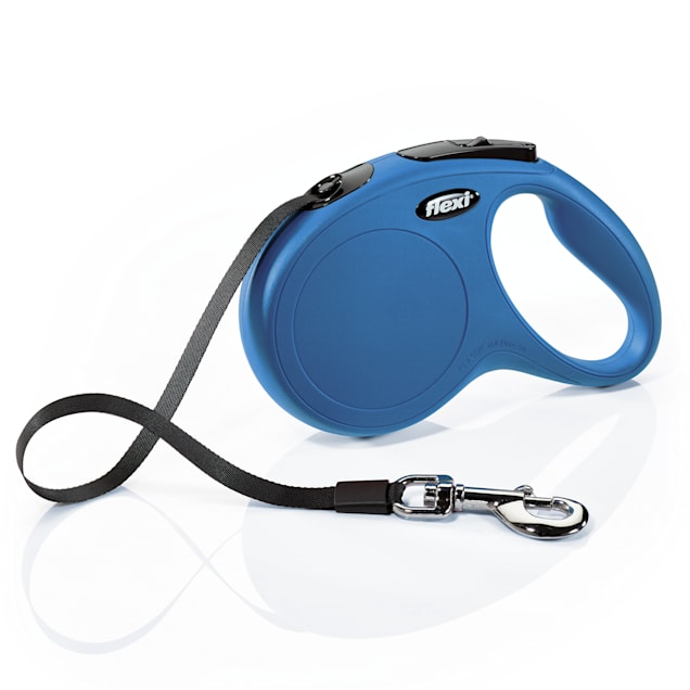 Flexi Classic Retractable Dog Leash in Blue, Medium 16' - Carousel image #1
