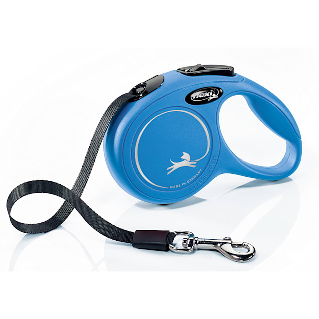 Flexi Classic Retractable Dog Leash in Blue, Extra Small 10' - Carousel image #1