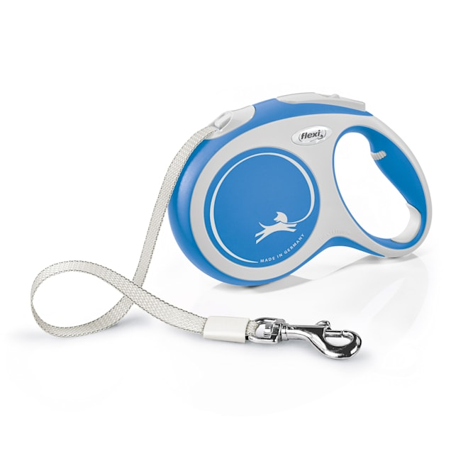 Flexi Comfort Retractable Dog Leash in Blue, Large 16' - Carousel image #1