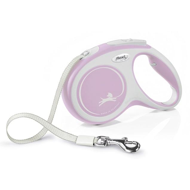 Flexi Comfort Retractable Dog Leash in Pink, Medium 16' - Carousel image #1