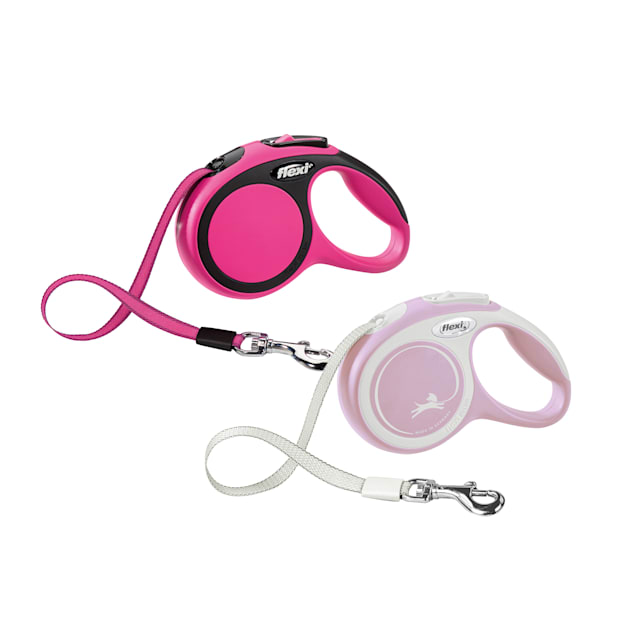 Flexi Comfort Retractable Dog Leash in Pink, Extra Small 10' - Carousel image #1