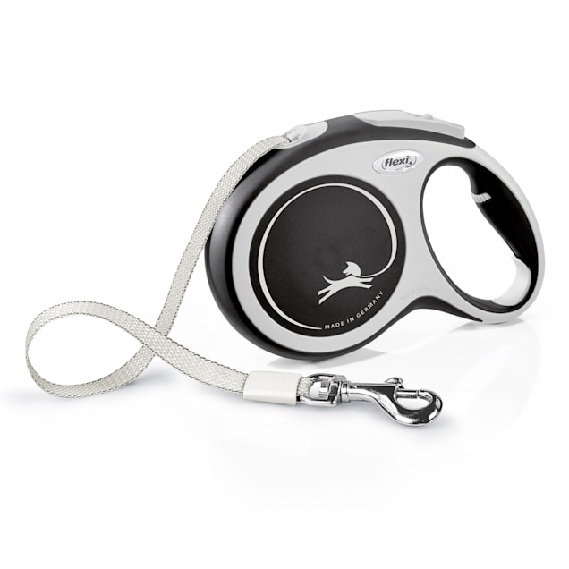 Flexi Comfort Retractable Dog Leash in Grey, Large 26' - Carousel image #1