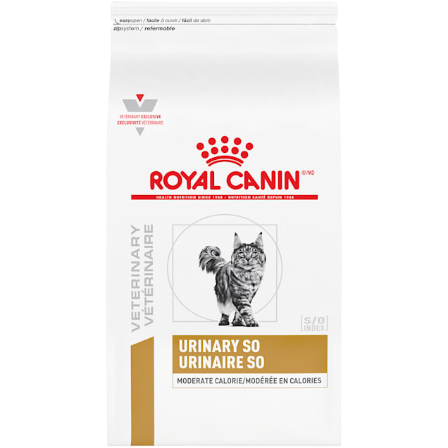 Royal Canin Veterinary Diet Feline Urinary SO Moderate Calorie Dry Cat Food, 17.6 lbs. - Carousel image #1