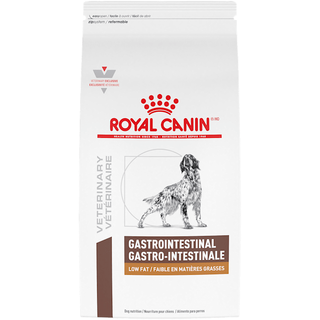 Royal Canin Veterinary Diet Gastrointestinal Low Fat Dry Dog Food, 28.6 lbs. - Carousel image #1