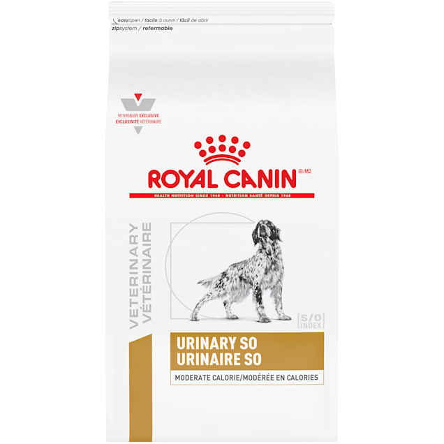 Royal Canin Veterinary Diet Canine Urinary SO Moderate Calorie Dry Dog Food, 17.6 lbs. - Carousel image #1