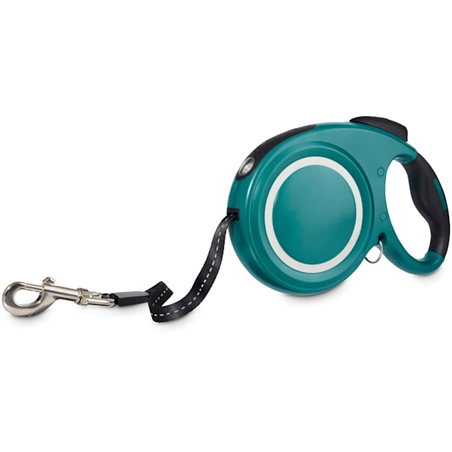 Good2Go Teal Retractable Lead With Flashlight For Dogs, Medium - Carousel image #1