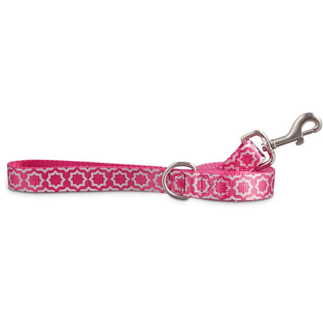Good2Go Reflective Pink Starburst Dog Leash, 6 ft. - Carousel image #1