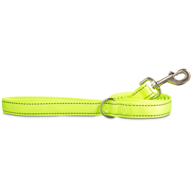 Good2Go Reflective Padded Leash in Yellow, 6 ft. - Carousel image #1