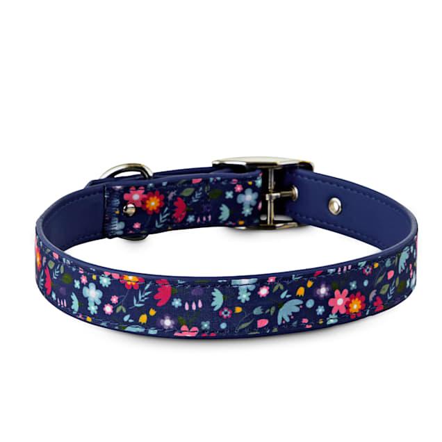 Bond & Co. Blue Blossom Dog Collar, Large - Carousel image #1