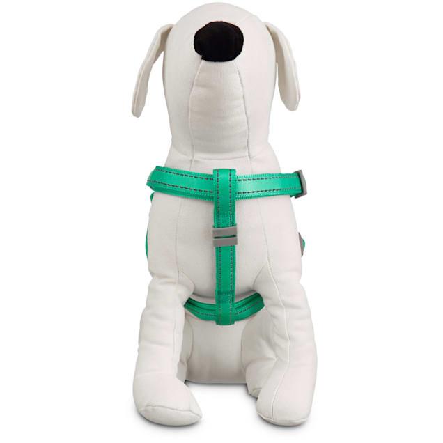 Good2Go Reflective Adjustable Padded Dog Harness in Turquoise, Large/X-Large - Carousel image #1