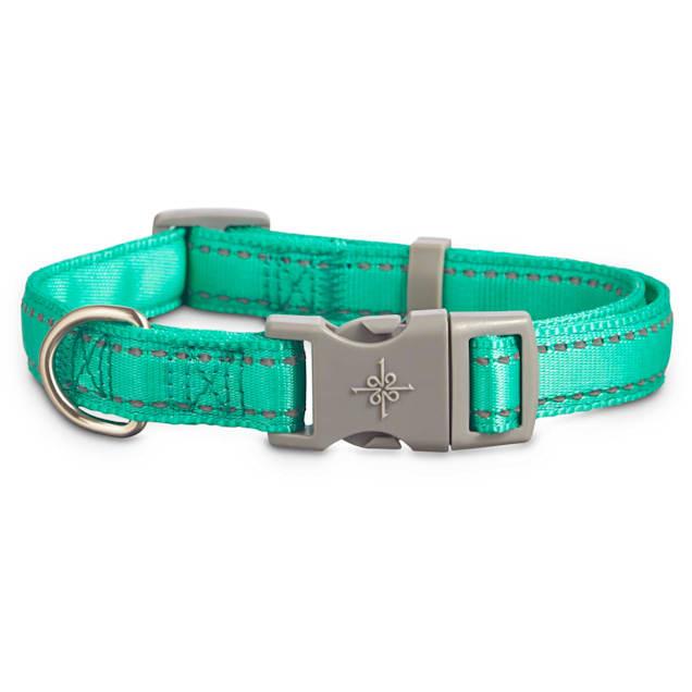 Good2Go Reflective Adjustable Padded Dog Collar in Turquoise, Large/X-Large - Carousel image #1
