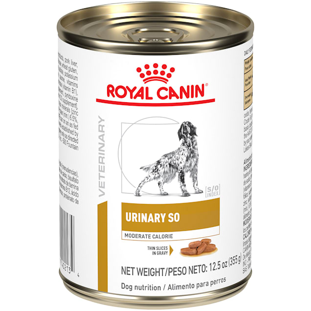 Royal Canin Veterinary Diet Urinary SO Moderate Calorie Wet Dog Food, 12.5 oz., Case of 24 - Carousel image #1