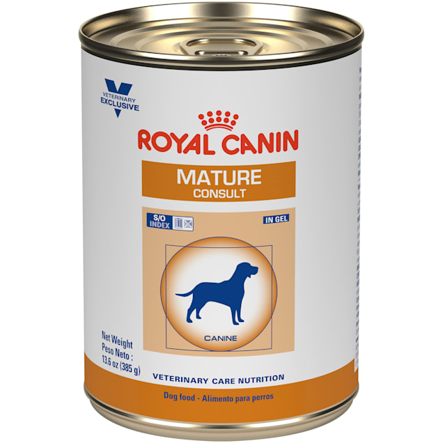 Royal Canin Veterinary Diet Nutrition Canine Mature Consult In Gel Wet Dog Food, 13.6 oz., Case of 24 - Carousel image #1