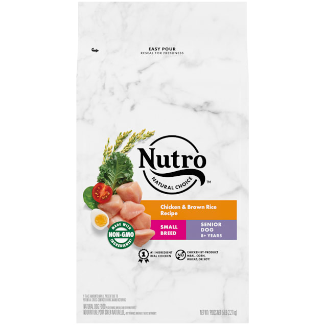 Nutro Natural Choice Chicken & Brown Rice Recipe Small Breed Senior Dry Dog Food, 5 lbs. - Carousel image #1