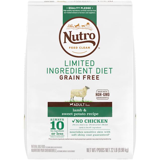 Nutro Limited Ingredient Diet Lamb & Sweet Potato Recipe Dry Adult Dog Food, 22 lbs. Bag - Carousel image #1
