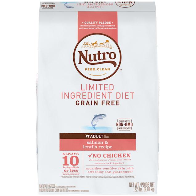 Nutro Limited Ingredient Diet Salmon & Lentils Recipe Dry Adult Dog Food, 22 lbs. Bag - Carousel image #1