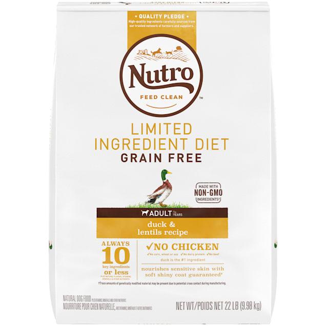 Nutro Limited Ingredient Diet Duck & Lentils Recipe Dry Adult Dog Food, 22 lbs. Bag - Carousel image #1