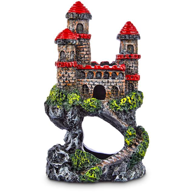 Imagitarium Lofty Red Castle Aquarium Ornament, Mini - Carousel image #1