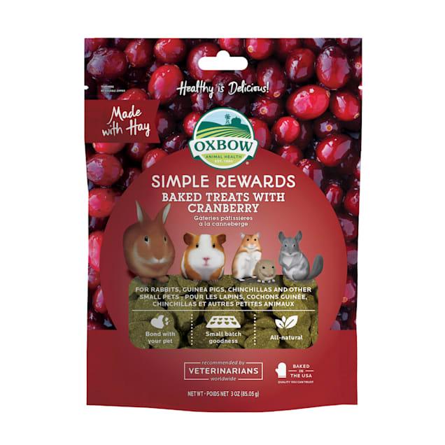 Oxbow Simple Rewards Cranberry Baked Small Animal Treats, 3 oz. - Carousel image #1