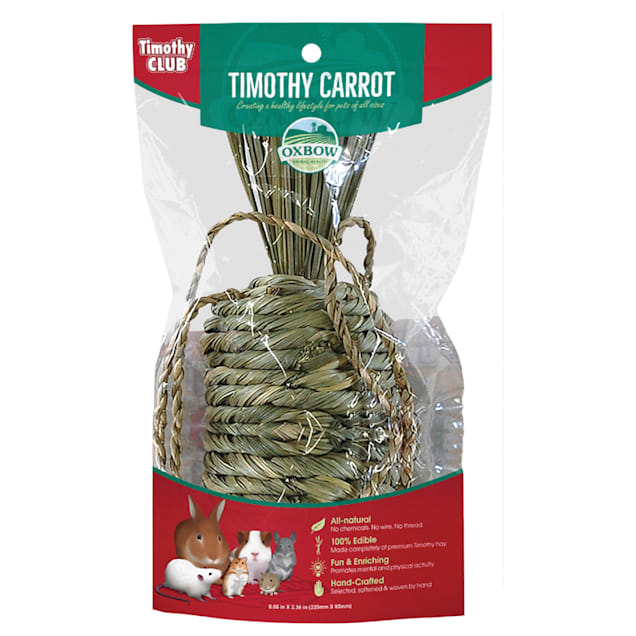 Oxbow Timothy Club Timothy Carrot for Small Animals. 0.6 oz. - Carousel image #1