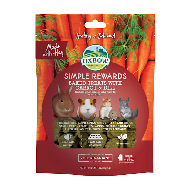 Oxbow Simple Rewards Carrot and Dill Baked Small Animal Treats, 3 oz. - Carousel image #1