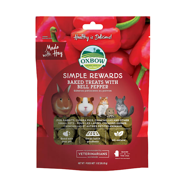 Oxbow Simple Rewards Bell Pepper Baked Small Animal Treats, 3 oz. - Carousel image #1