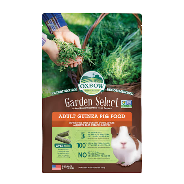 Oxbow Garden Select Fortified Food for Guinea Pigs, 4 lbs. - Carousel image #1