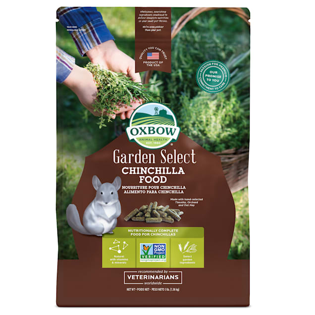 Oxbow Garden Select Fortified Food for Chinchillas, 3 lbs. - Carousel image #1