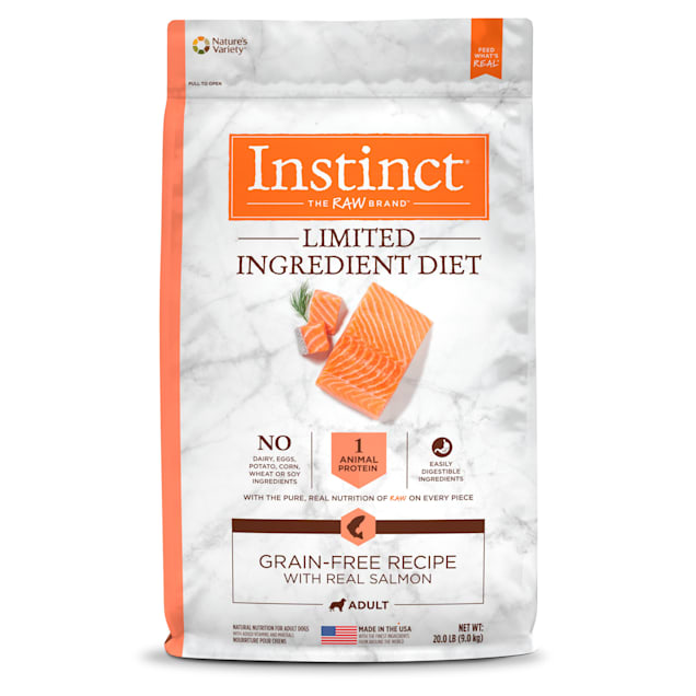 Instinct Limited Ingredient Diet Grain-Free Recipe with Real Salmon Freeze-Dried Raw Coated Dry Dog Food, 20 lbs. - Carousel image #1