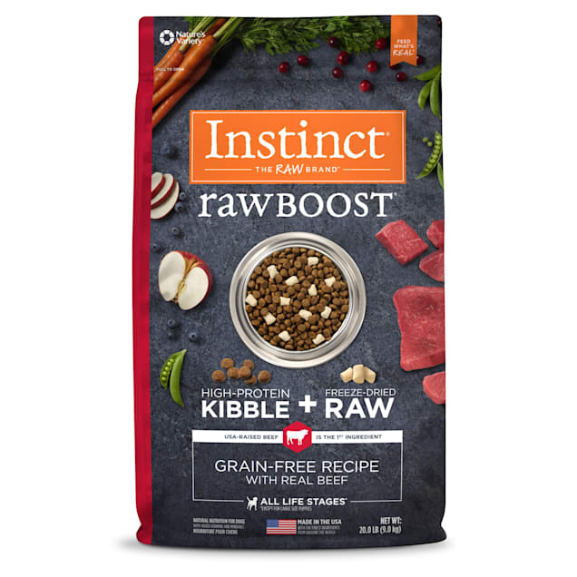 Instinct Raw Boost Grain-Free Recipe with Real Beef Dry Dog Food with Freeze-Dried Raw Pieces, 20 lbs. - Carousel image #1