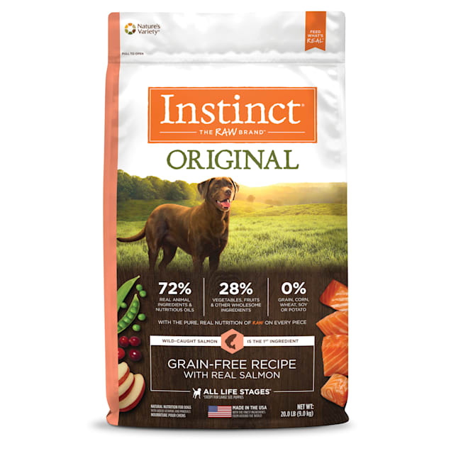 Instinct Original Grain-Free Recipe with Real Salmon Freeze-Dried Raw Coated Dry Dog Food, 20 lbs. - Carousel image #1