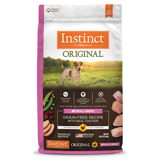 Instinct Original Small Breed Grain-Free Recipe with Real Chicken Freeze-Dried Raw Coated Dry Dog Food, 11 lbs. - Carousel image #1