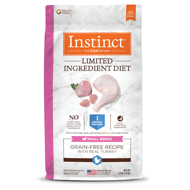 Instinct Limited Ingredient Diet Small Breed Grain-Free Turkey Recipe Freeze-Dried Raw Coated Dry Dog Food, 4 lbs. - Carousel image #1