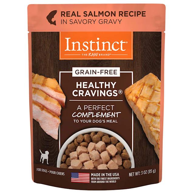 Instinct Healthy Cravings Grain-Free Cuts & Gravy Real Salmon Recipe in Savory Gravy Wet Dog Food, 3 oz., Case of 24 - Carousel image #1