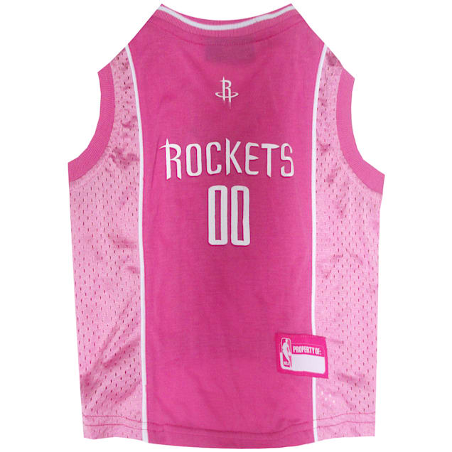 Pets First Houston Rockets NBA Pink Jersey for Dogs, Small - Carousel image #1