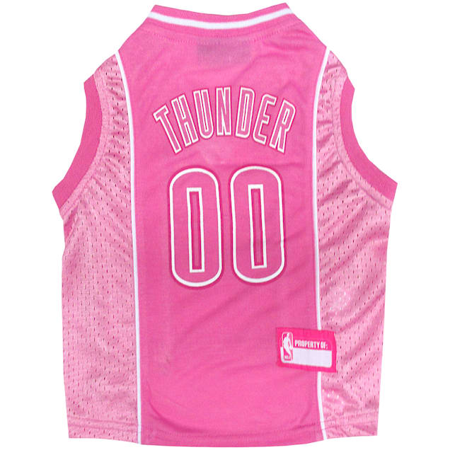 Pets First Oklahoma City Thunder NBA Pink Jersey for Dogs, X-Small - Carousel image #1