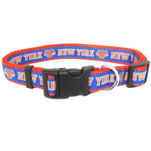 Pets First New York Knicks NBA Dog Collar, Small - Carousel image #1