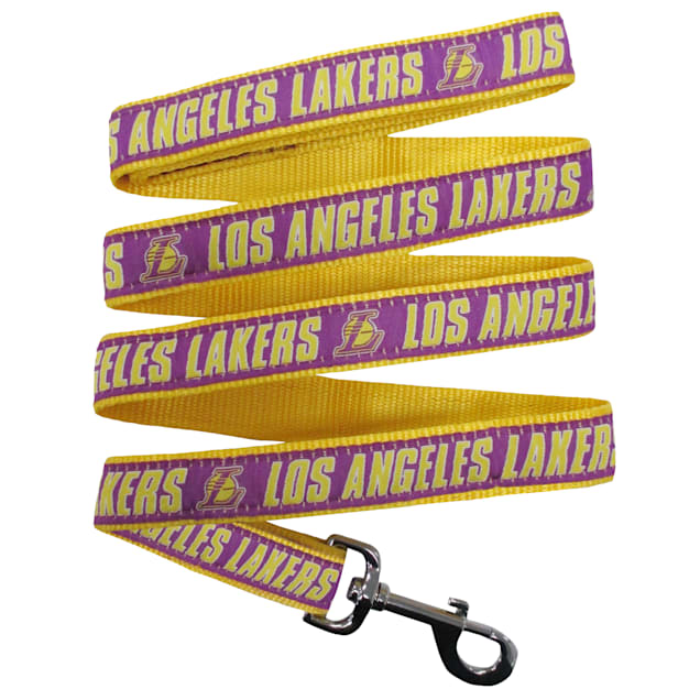 Pets First Los Angeles Lakers NBA Dog Leash, Small - Carousel image #1