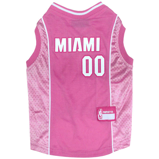 Pets First Miami Heat NBA Pink Jersey for Dogs, X-Small - Carousel image #1