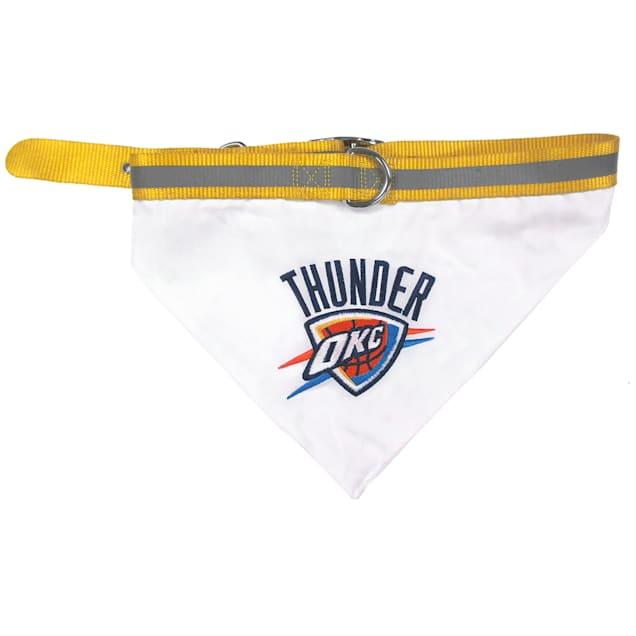 Pets First Oklahoma City Thunder NBA Dog Collar Bandana, Medium - Carousel image #1